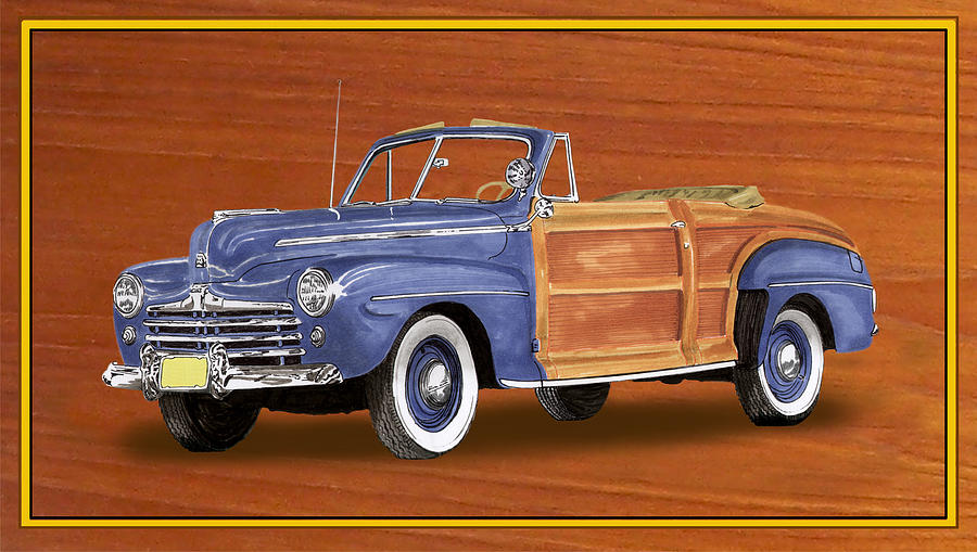 1948 Ford Sportsman Convert. Painting by Jack Pumphrey