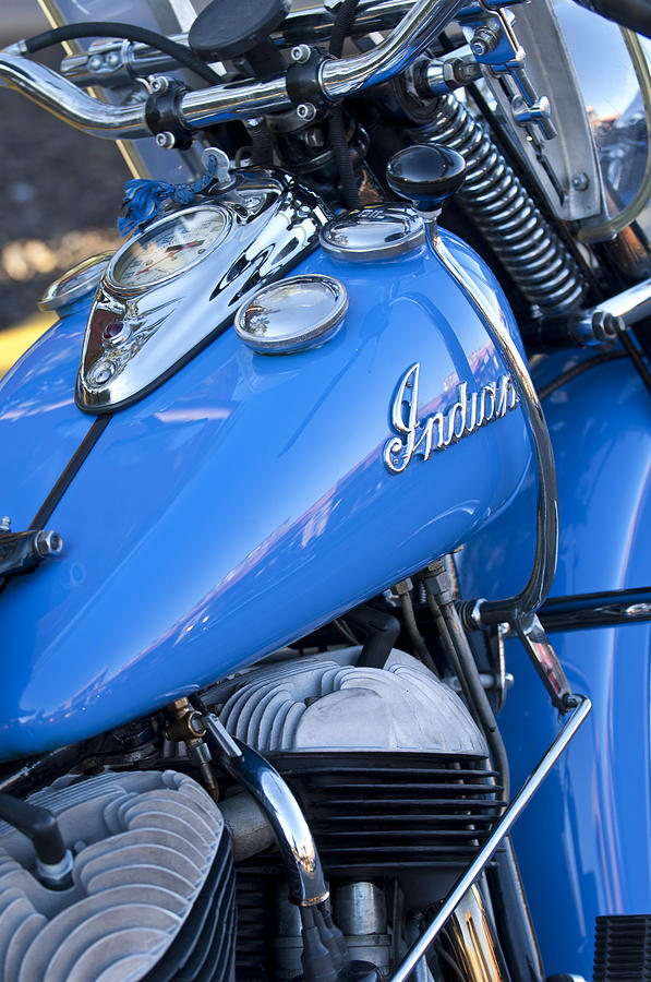 Motorcycle Photograph - 1948 Indian Chief Motorcycle by Jill Reger