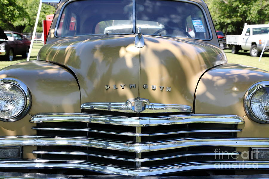 Transportation Photograph - 1949 Plymouth Delux Sedan . 5d16205 by Wingsdomain Art and Photography