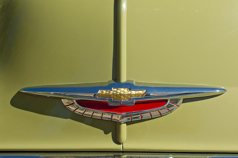 1950 Chevrolet Fleetline Photograph - 1950 Chevrolet Fleetline Emblem by Jill Reger