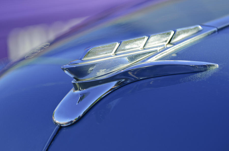 1951 Plymouth Photograph - 1951 Plymouth Hood Ornament by Jill Reger