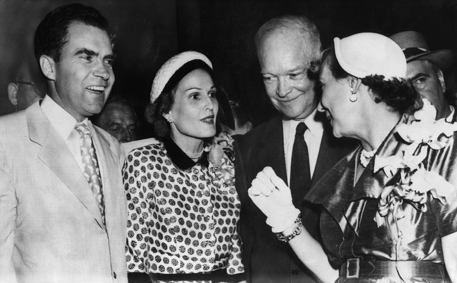 1950s Photograph - 1952 Presidential Campaign. From Left by Everett