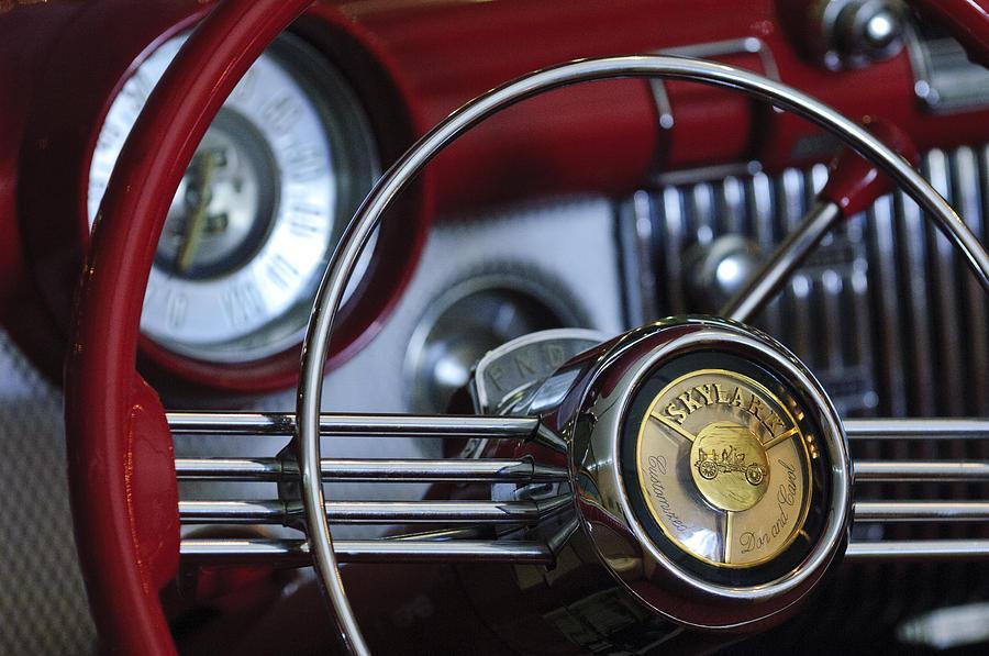 1953 Buick Skylark Convertible Steering Wheel Photograph ...
