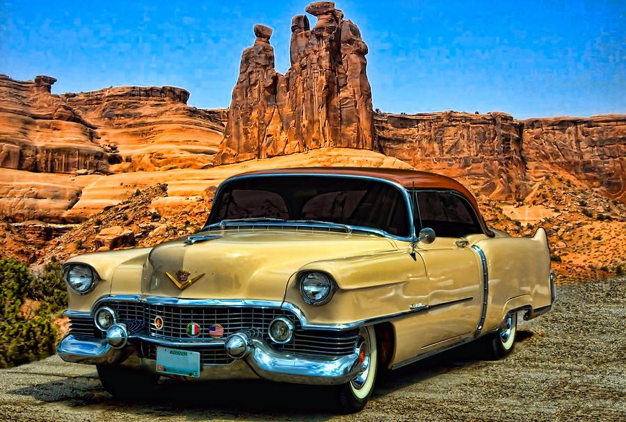 1954 Cadillac Coupe Deville Photograph by Tim McCullough