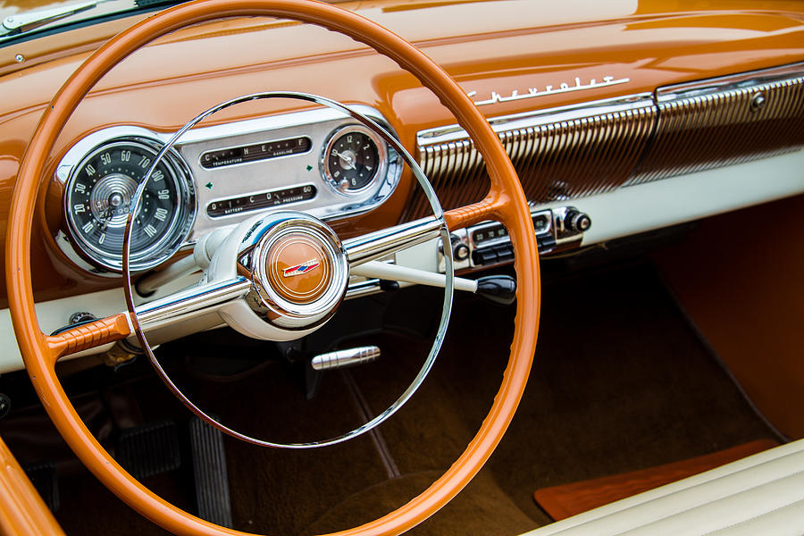 1954 Chevrolet Interior Photograph By Roger Mullenhour