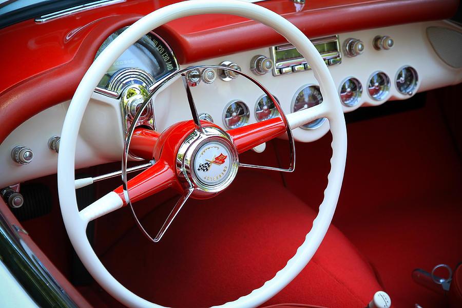 Hot Rod T Shirts >> 1954 Corvette Dash Photograph by Steve McKinzie