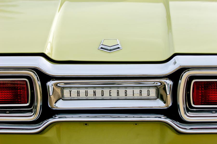 Taillights Photograph - 1954 Ford Thunderbird Taillight Emblem by Jill Reger