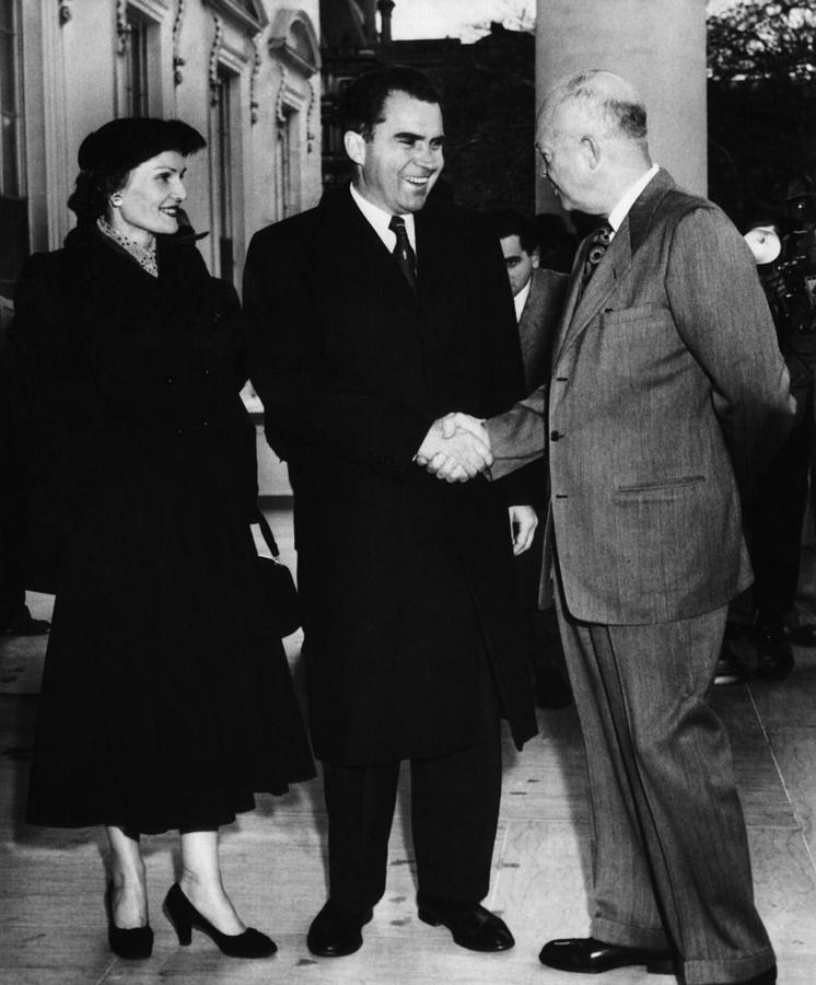 1950s Photograph - 1954 Us Presidency.  Us President by Everett