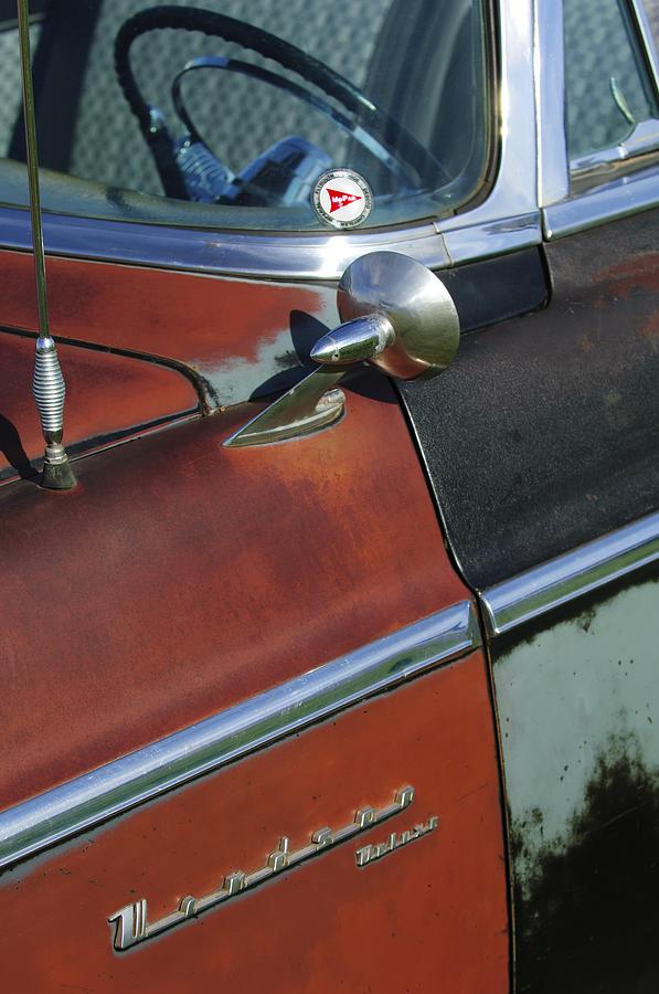 Steering Wheel Photograph - 1955 Chrysler Windsor Deluxe Emblem by Jill Reger