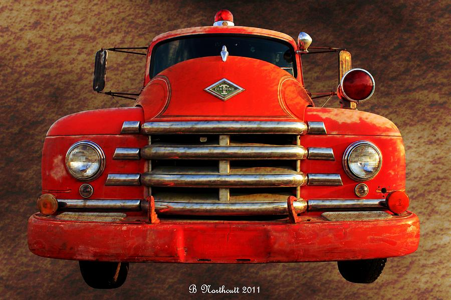 1955 Photograph - 1955 Diamond T Grille - The Cadillac Of Trucks by Betty Northcutt