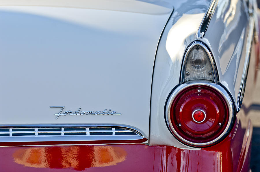 Taillight Photograph - 1955 Ford Fairlane Fordomatic Taillight by Jill Reger