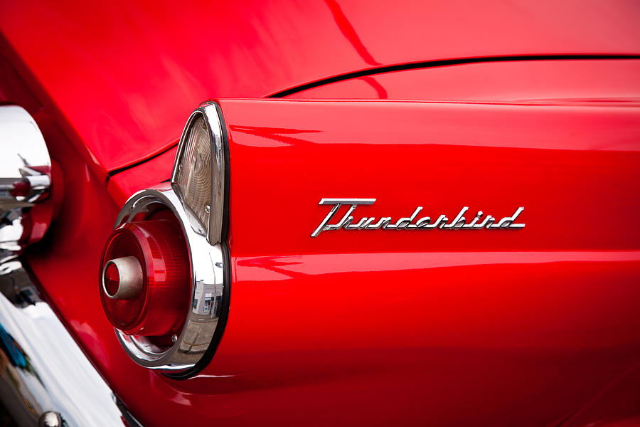 1966 Photograph - 1955 Ford Thunderbird by David Patterson