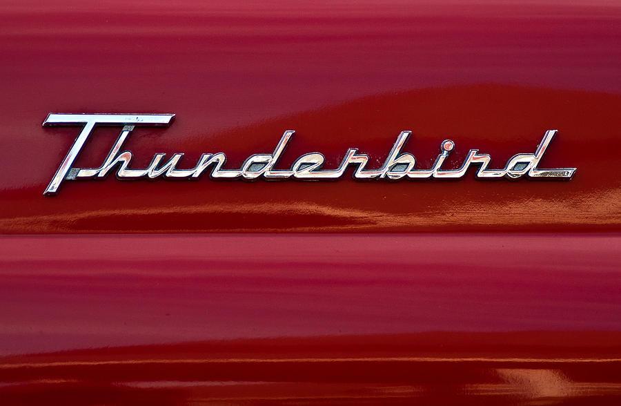 1955 Ford Thunderbird Rear Tail Emblem Photograph By