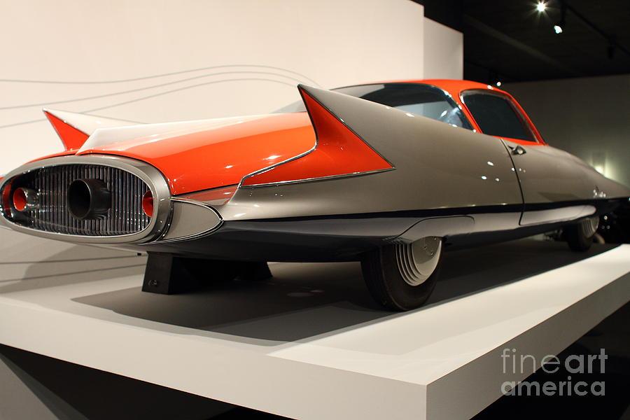 Transportation Photograph - 1955 Ghia Streamline X Gilda Concept Car - 7d17263 by Wingsdomain Art and Photography