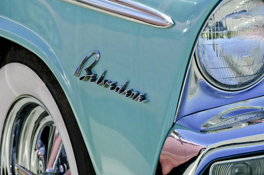 1955 Plymouth Belvedere Photograph - 1955 Plymouth Belvedere Emblem by Jill Reger