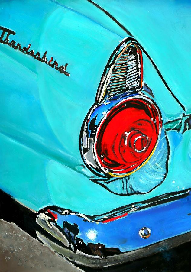 Vintage Cars Painting - 1955 by Vel Verrept