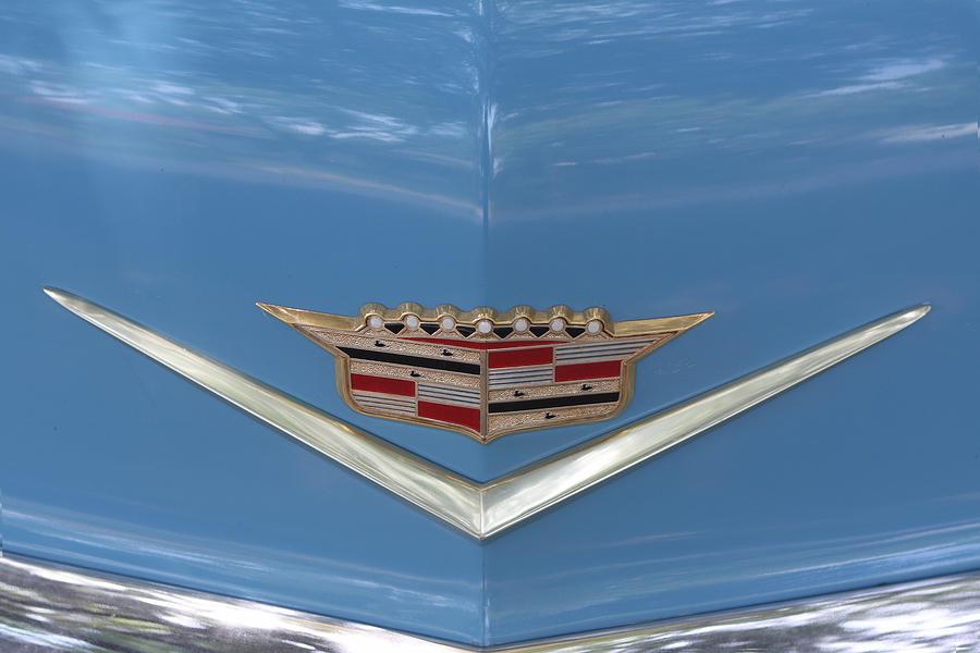 1956 Cadillac Emblem Photograph By Linda Phelps