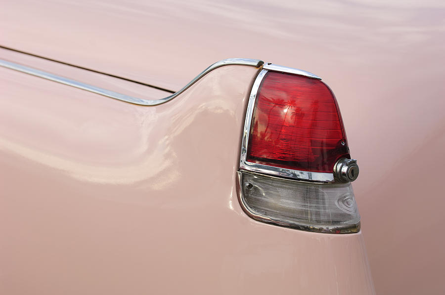 Taillight Photograph - 1956 Cadillac Taillight by Jill Reger