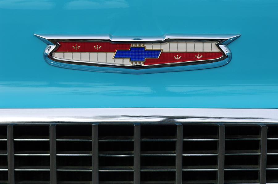 1956 Chevrolet Belair Nomad Grille Emblem Photograph By Jill Reger