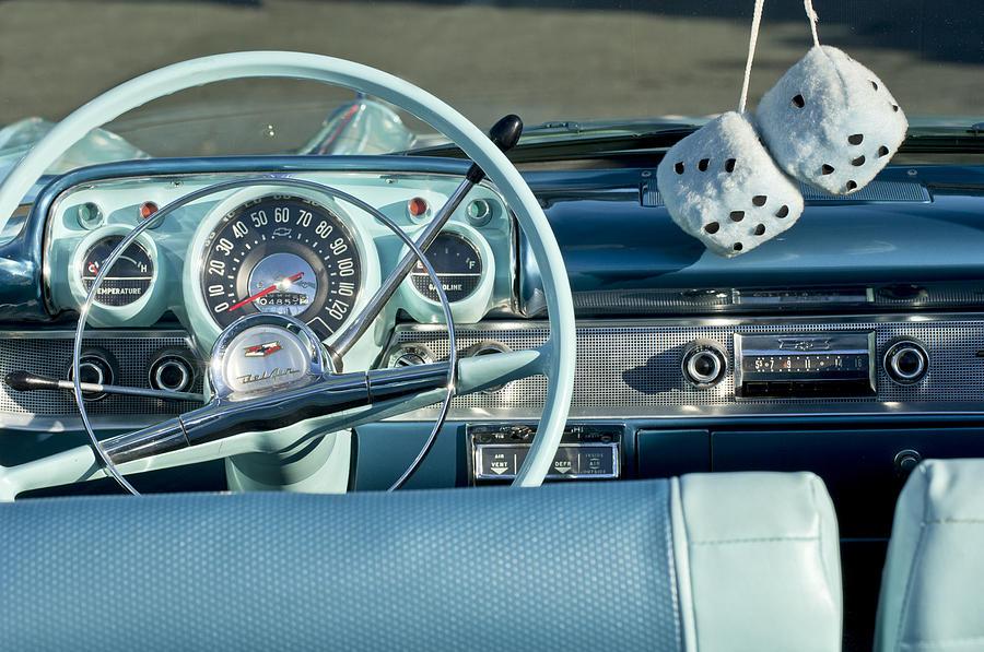 1956 Chevrolet Belair Steering Wheel 2 Photograph By Jill