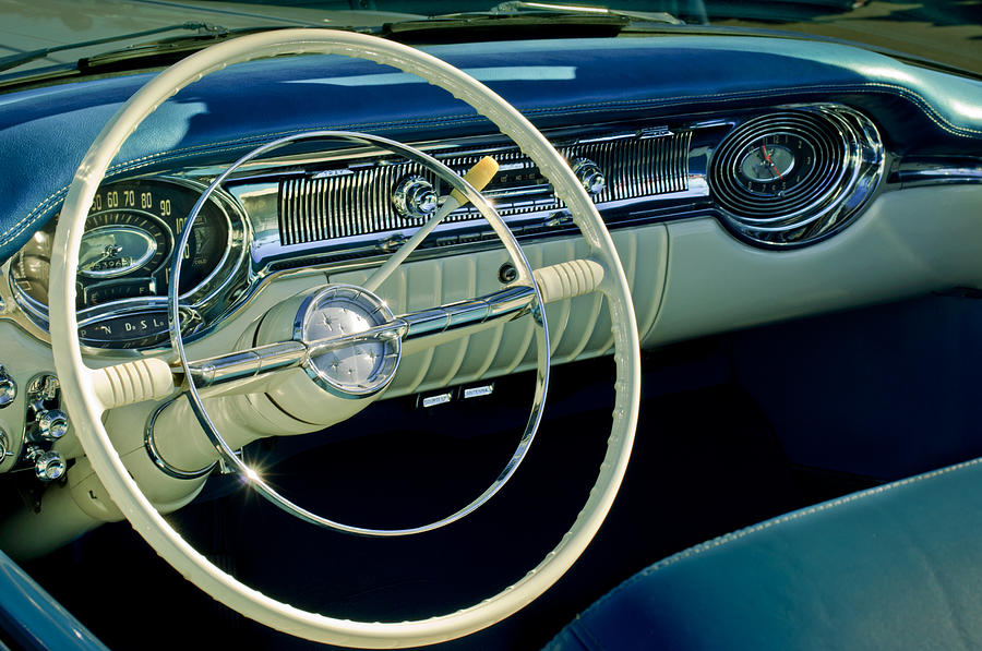 1956 oldsmobile starfire 98 steering wheel and dashboard photograph by jill reger. Black Bedroom Furniture Sets. Home Design Ideas