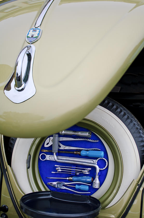 1956 Volkswagen VW Bug Tool Kit by Jill Reger