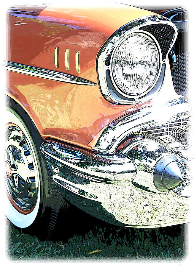 Color Photograph - 1957 Chevy by Steve McKinzie