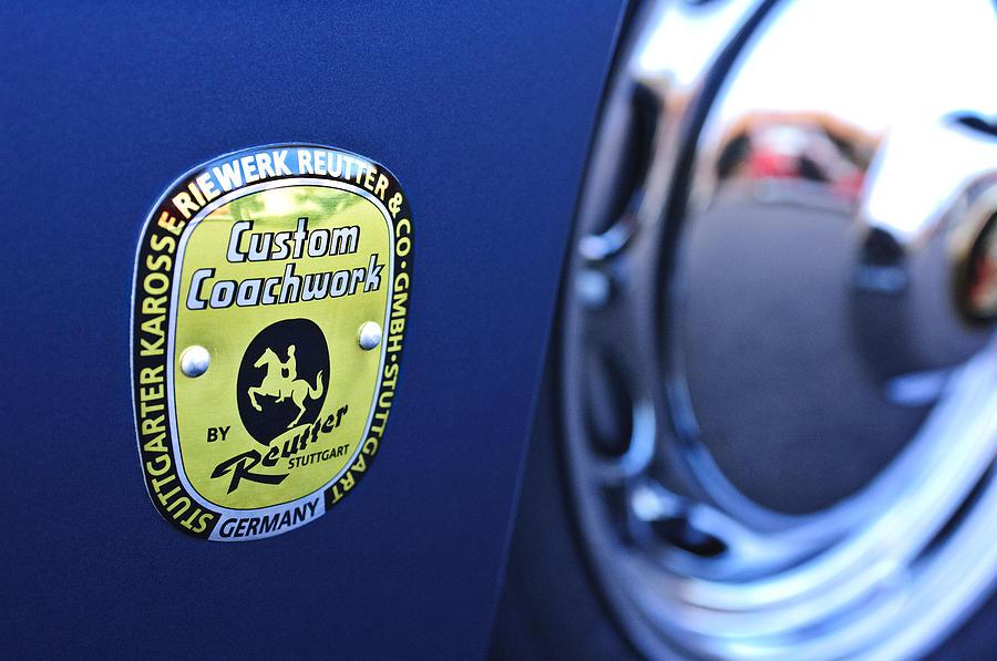 Emblem Photograph - 1957 Porsche Emblem by Jill Reger