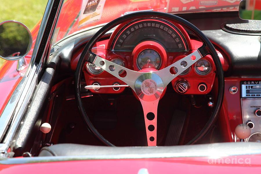 1958 Chevrolet Corvette Steering Wheel And Dashboard ...