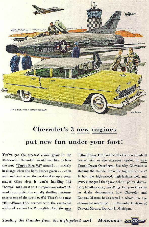 Chevrolet Digital Art - 1958 Chevrolet Turbo Fire V8 by Georgia Fowler