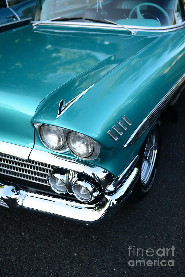 Automotive Photograph - 1958 Chevy Belair Front End 01 by Paul Ward