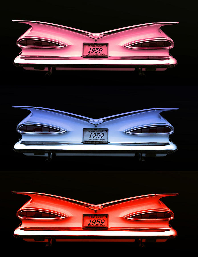 1959 Photograph - 1959 Chevrolet Eyebrow Tail Lights by Tim McCullough