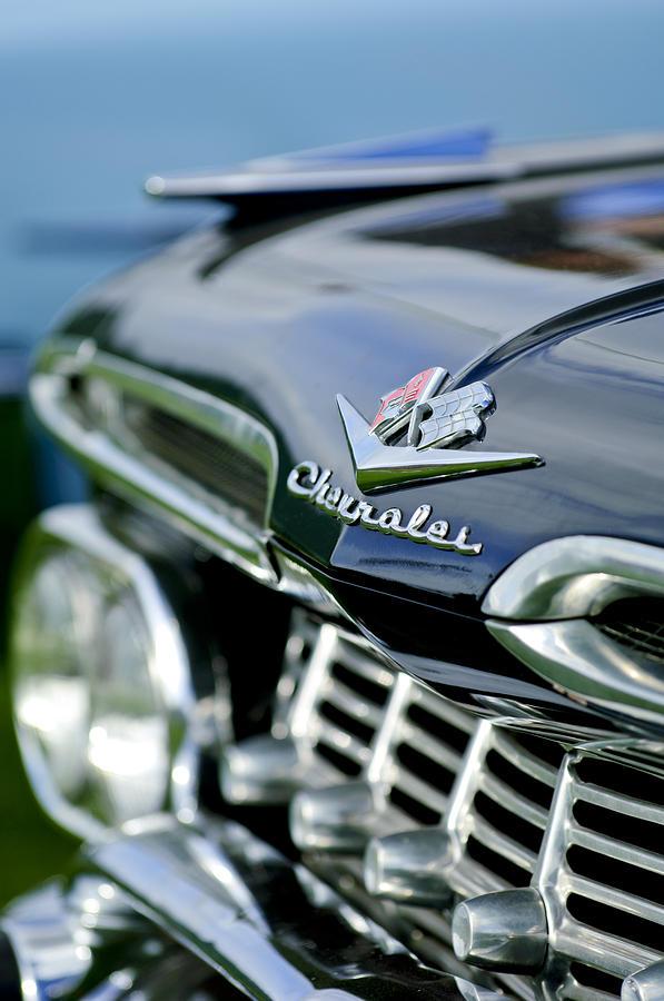Grill Photograph - 1959 Chevrolet Grille Emblem by Jill Reger