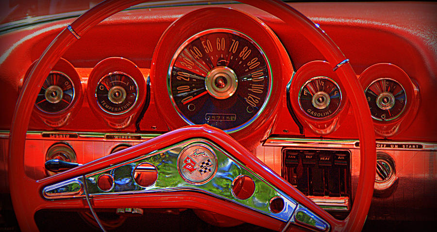 Graff Chevy >> 1959 Chevy Impala Dashboard Photograph by Tam Graff