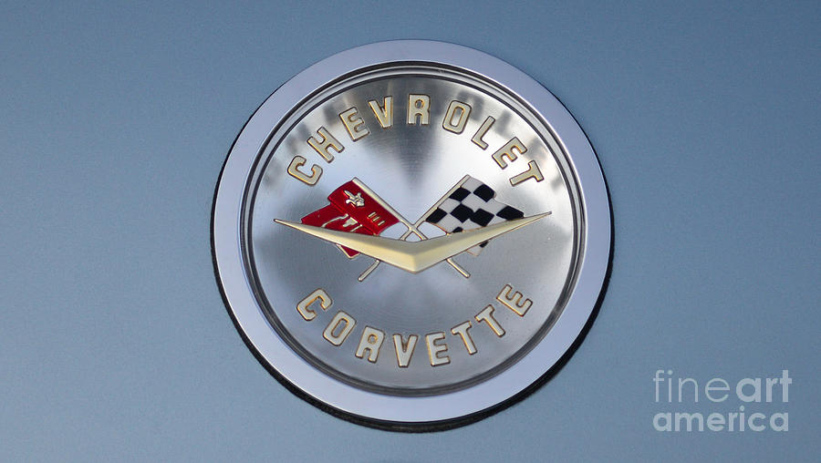 1959 Corvette Photograph - 1959 Corvette Emblem by Paul Ward