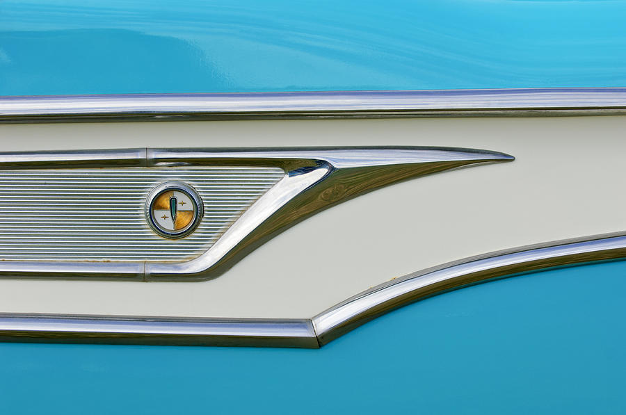Emblem Photograph - 1959 Edsel Corvair Side Emblem by Jill Reger