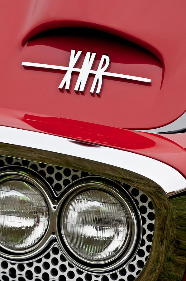 1960 Plymouth Xnr Ghia Roadster Photograph - 1960 Plymouth Xnr Ghia Roadster Grille Emblem by Jill Reger