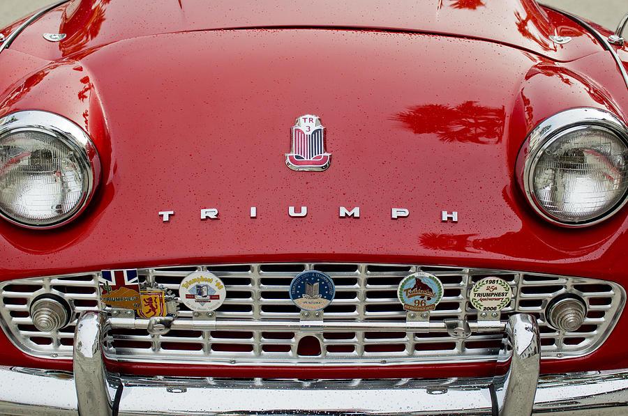 Grill Photograph - 1960 Triumph Tr 3 Grille Emblems by Jill Reger