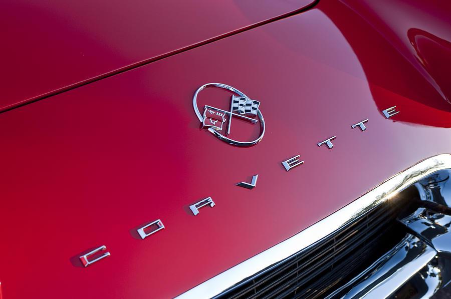 1962 Chevrolet Corvette Hood Emblem 3 Photograph By Jill Reger