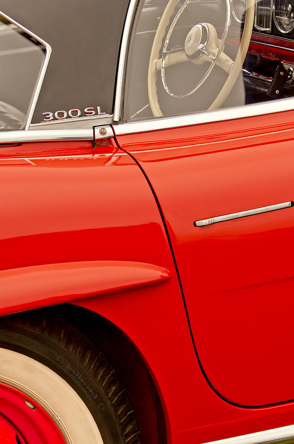 1962 Mercedes-benz 300 Sl Roadster Photograph - 1962 Mercedes-benz 300 Sl Roadster by Jill Reger