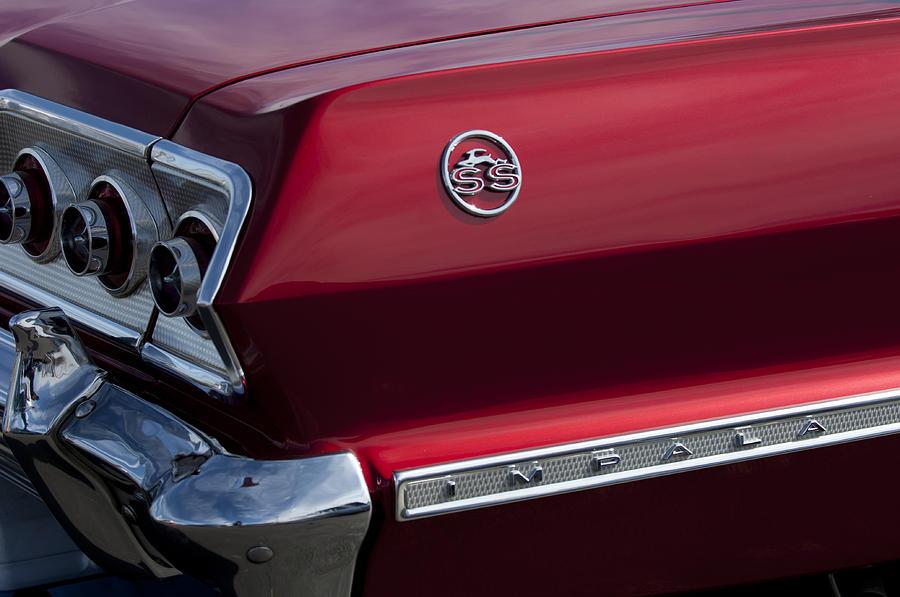 Taillight Photograph - 1963 Chevrolet Impala Ss Taillight by Jill Reger