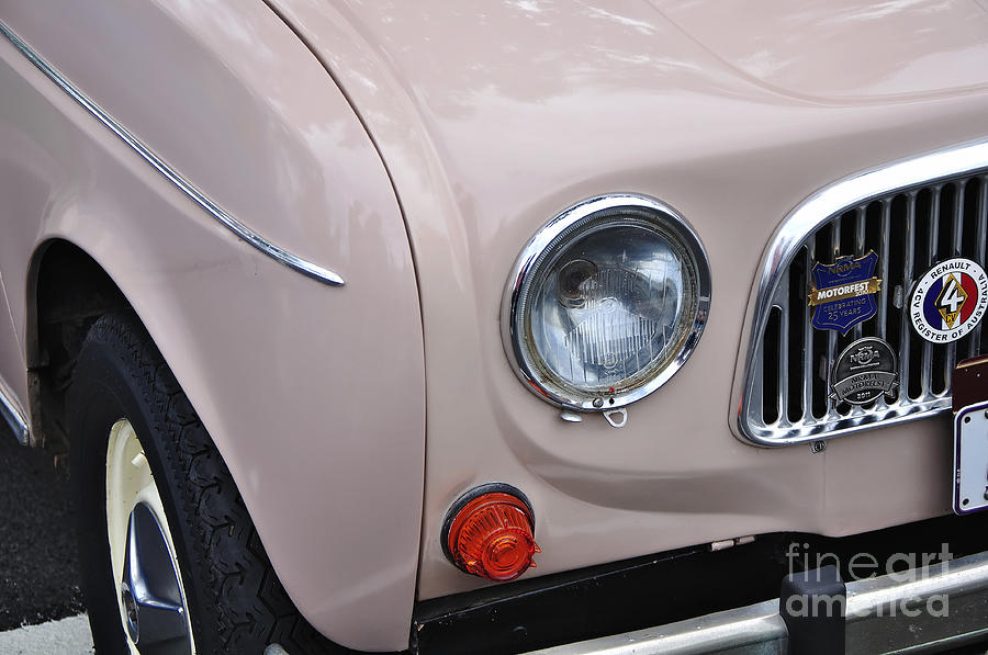 1963 Renault R4 - Headlight And Grill Photograph by Kaye