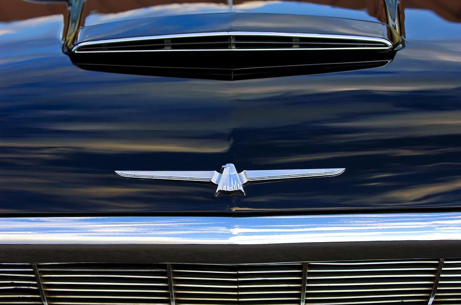 Grill Photograph - 1964 Ford Thunderbird Hood Emblem by Jill Reger