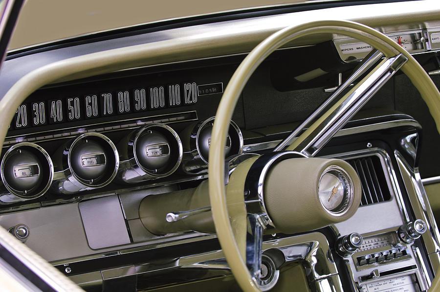 Steering Wheel Photograph - 1964 Ford Thunderbird Steering Wheel by Jill Reger