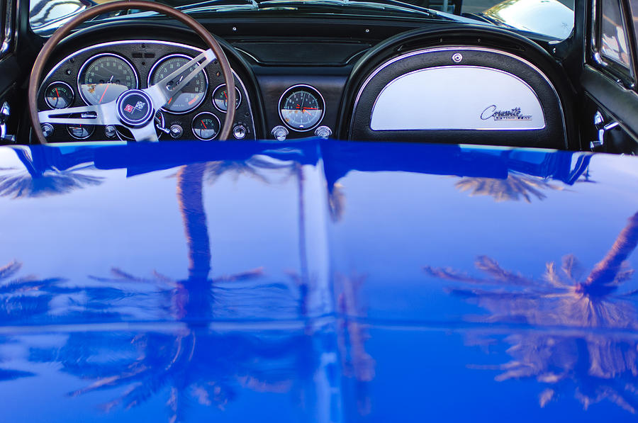 Dash Board Photograph - 1965 Chevrolet Corvette Sting Ray by Jill Reger