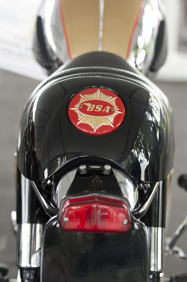 Motorcycle Photograph - 1966 Bsa 650 A-65 Spitfire Lightning Clubman Motorcycle by Jill Reger
