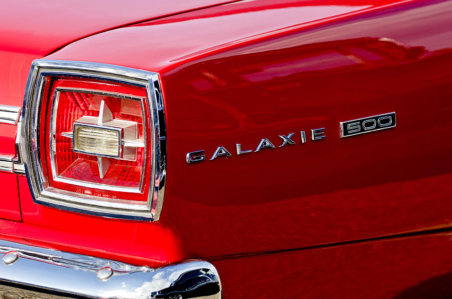 1966 Ford Galaxie 500 Convertible Taillight Photograph By