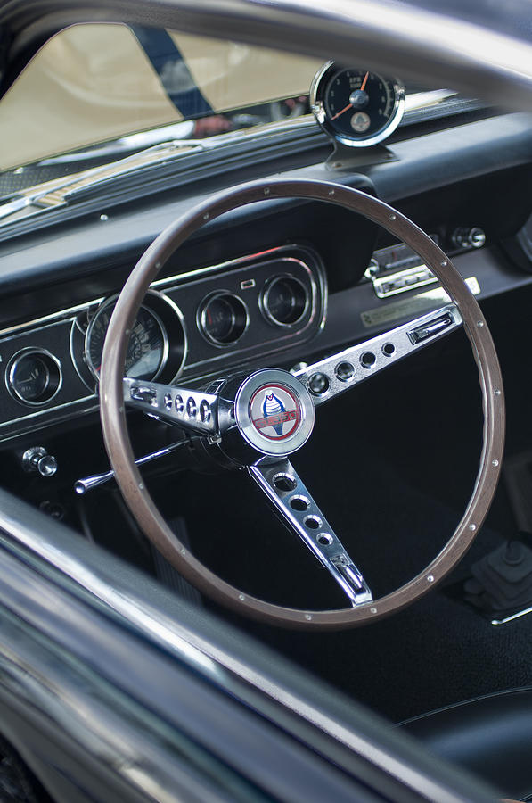 1966 ford mustang cobra steering wheel photograph by jill. Black Bedroom Furniture Sets. Home Design Ideas