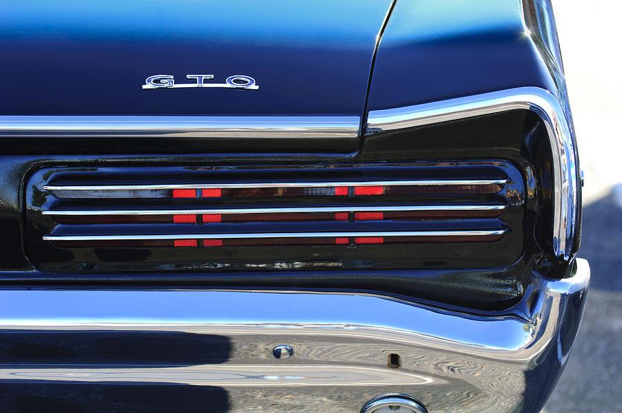 1966 Pontiac Gto Taillight Emblem Photograph by Jill Reger