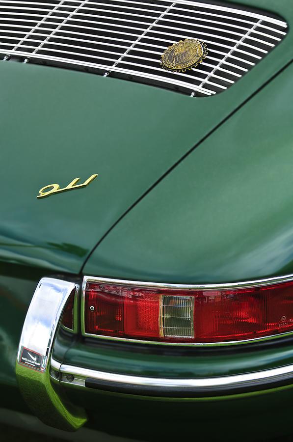 1966 Porsche 911 Swb Coupe Taillight Emblem Photograph By